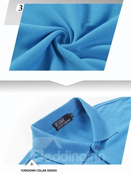 Pure Color Simple Roll Lapel Outdoor Jersey Men Quick Drying Shirt