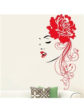 Amazing Red Sexy Woman Pattern Wall Sticker