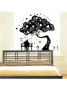 Romantic Lovers and Tree Pattern Wall Sticker