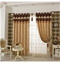 Luxurious Peony Pattern Grommet Blackout Top Curtain