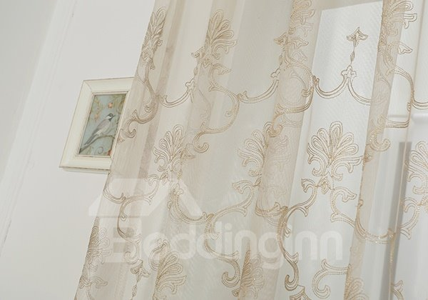 Totem Pattern Grommet Top Match Custom Sheer Curtain