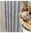 Silver High Precision Silk Jacquard Cloth Grommet Top Curtain