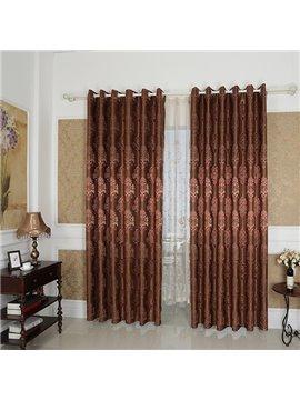 Amazing Detail High Precision Silk Jacquard Cloth Grommet Blackout Top Curtain