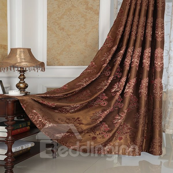 Amazing Detail High Precision Silk Jacquard Cloth Grommet Blackout Top Curtain