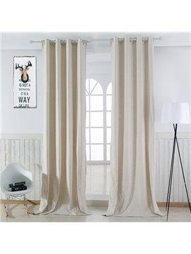 Modern Minimalist Natural Color Grommet Top Curtain