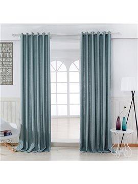 Pure Colored Super Soft Pale Blue Custom Grommet Top Curtain
