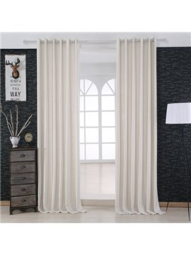 Modern Minimalist White Grommet Top Curtain