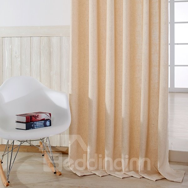 Modern Minimalist Maize-Yellow Grommet Top Curtain