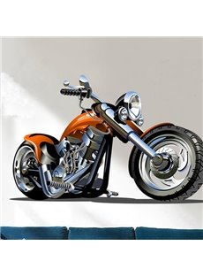 Cool Simple Style Motorcycle Pattern Wall Sticker