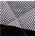 Popular White & Black Checked Print Polyester Quilt