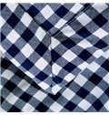 Super Soft Neutral Concise Plaid Blue Polyester Quilt