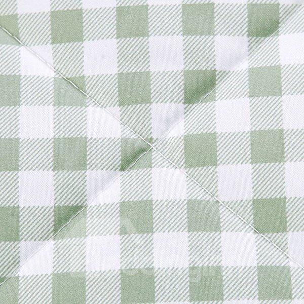 Popular Plaid Design Coffee Polyester Summer Quilt