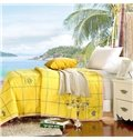 Graceful Sweet Ultra Soft Bright Yellow Polyester Quilt