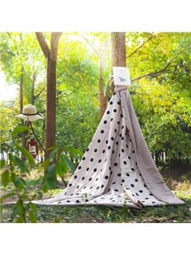 Popular Polka Dot Reactive Printing Polyester Quilt