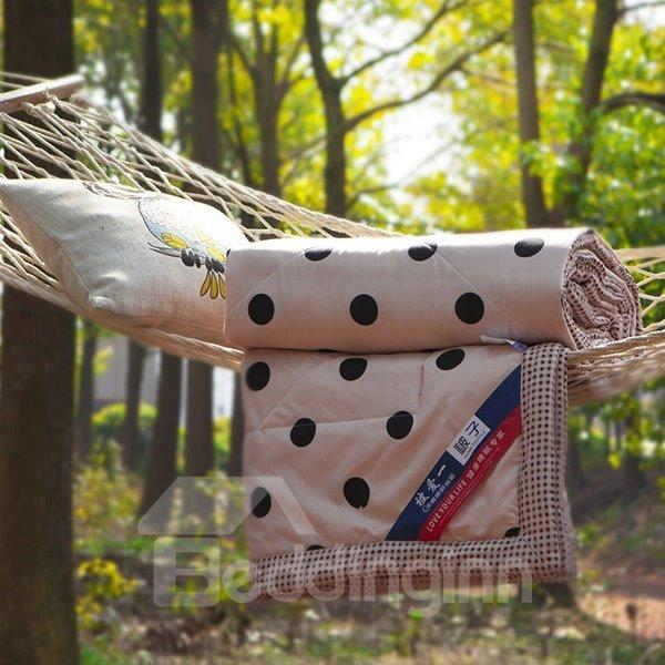 Popular Polka Dot Reactive Printing Polyester Quilt