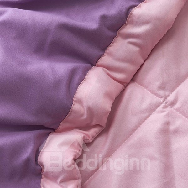 Fabulous Romantic Solid Purple Summer Polyester Quilt