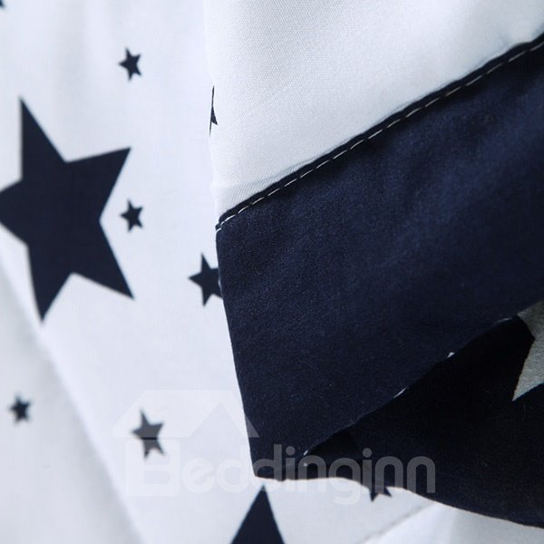 Chic Starry Sky Reactive Printing Polyester Quilt