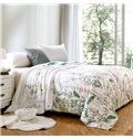 Fashion Elegant Flowers Reactive Printing Modal Quilt