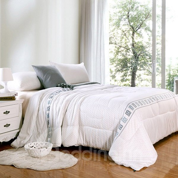 Simple Design White Washable Modal Summer Quilt
