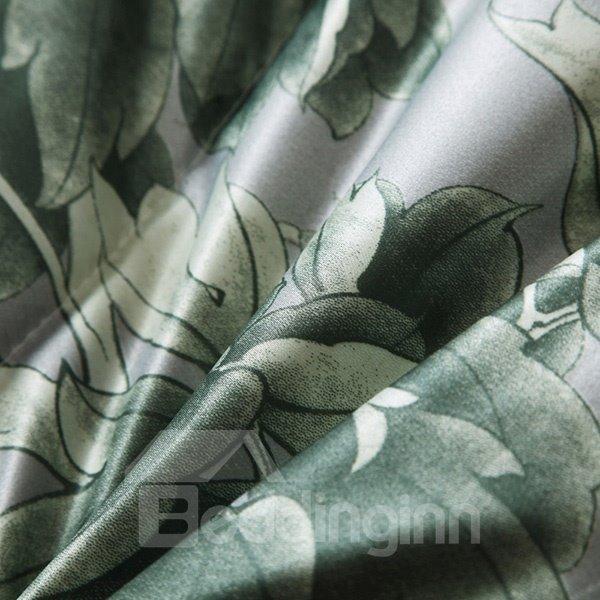 Romantic Retro Blooming Peonies Print Soft Quilt