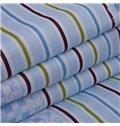 Special Design Vertical Stripe Sky Blue Quilt