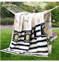 Classical Black and White Stripe Ultra Soft Cotton Quilt