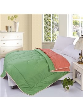 Elegant Green 100% Organic Cotton Summer Quilt