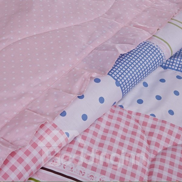 Romantic Pink Vertical Stripe Ultra Soft Cotton Quilt
