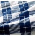 Simple Blue and Red Plaid Soft Cotton Quilt