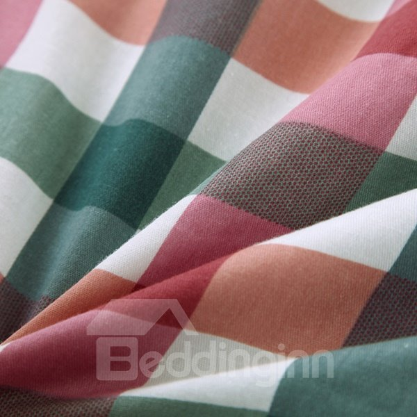 Western Style Neutral Plaid Comfortable Cotton Quilt