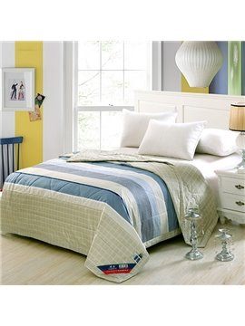Classical Concise Stripes Pure Cotton Summer Quilt