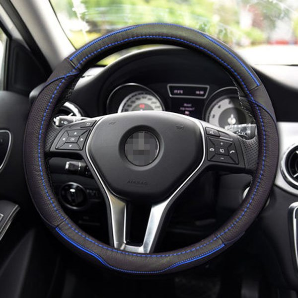 Leather Ultra-Comfortable Feel Steering Wheel Cover