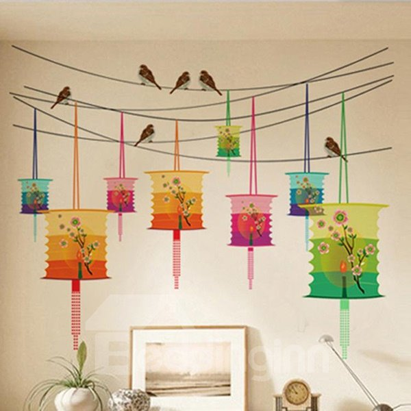 New Arrival Lantern Pattern Home Decorative Wall Sticker