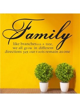 New Arrival Family Letter Pattern Wall Sticker