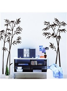 Simple Style Black Bamboo Pattern Wall Sticker