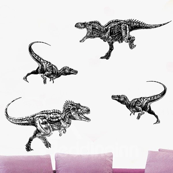 Amusing Creative Dinosaur Pattern Wall Stickers