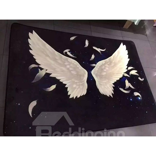 Beautiful Blue Angle Wings Pattern Area Rugs