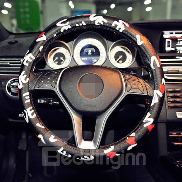 Printed Love Letter Creative And Popular Steering Wheel Cover