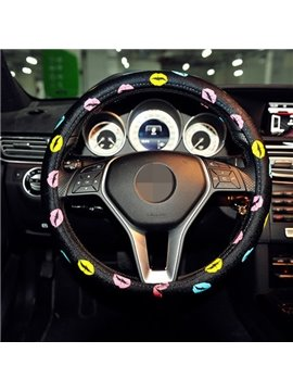 Creative Printed Lip Color Beautiful Steering Wheel Cover