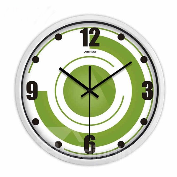 New Arrival Simple Style Green Creative Wall Clock