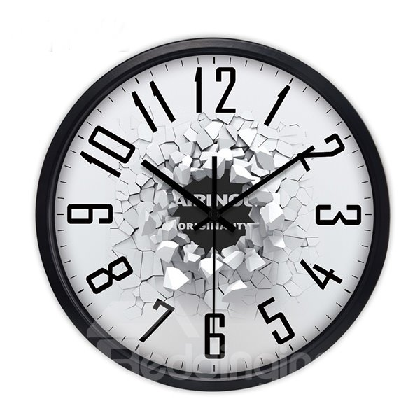 Simple Style 3D Broken Pattern Wall Clock