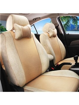 Breathable Material Luxurious Solid Style Universal Car Seat Cover