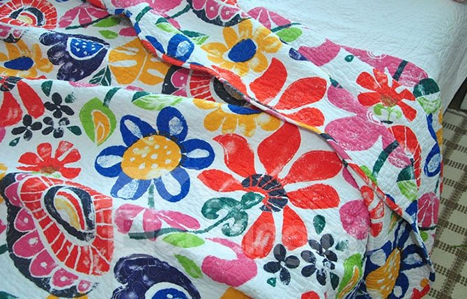 Lovely Flowers Print Cotton 3-Piece Bed in a Bag