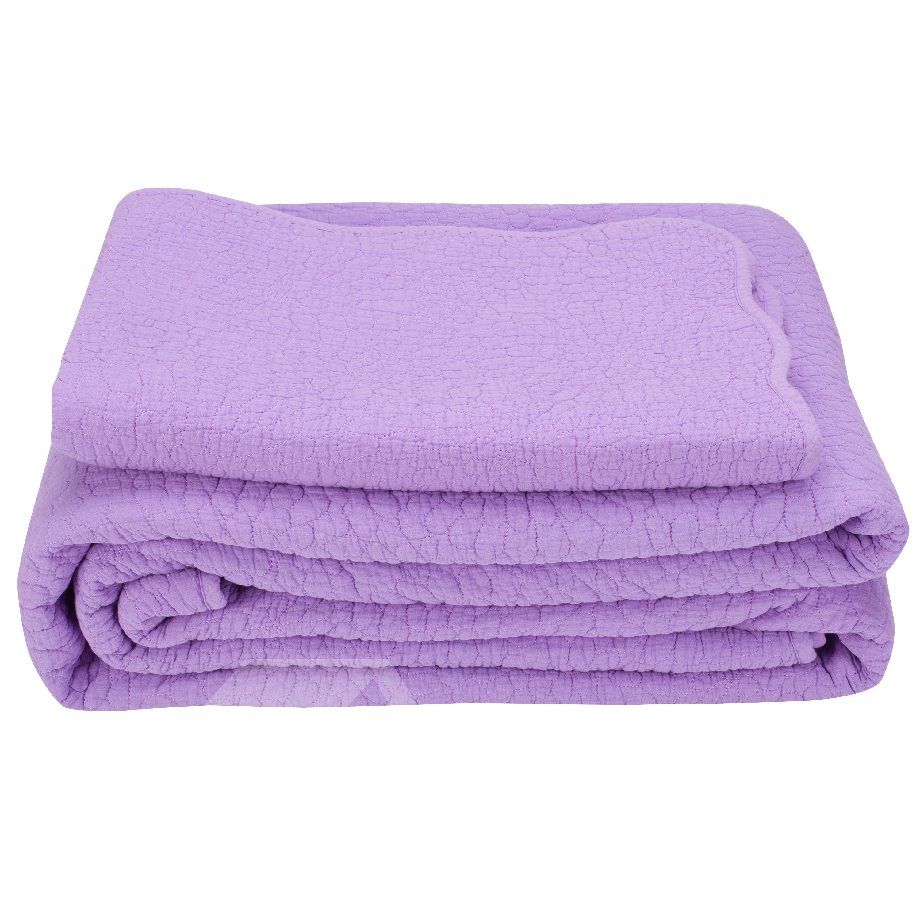 Noble Light Purple Pure Cotton 3-Piece Bed in a Bag