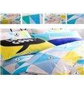 Beautiful Unique Triangle Pattern 4-Piece Cotton Duvet Cover Sets