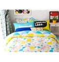 Fresh Fabulous Triangle Pattern 4-Piece Cotton Duvet Cover Sets