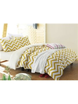 Fancy Concise Ripple Design 4-Piece Cotton Duvet Cover Sets