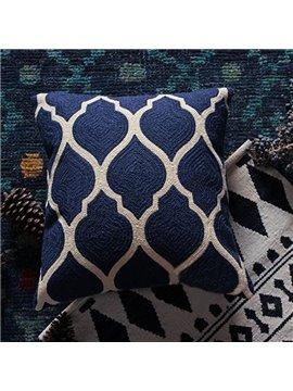 Special Design High Class Blue Throw Pillowcase