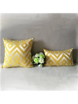 2-Piece Classy Stylish Ripple Print Yellow Throw Pillowcases