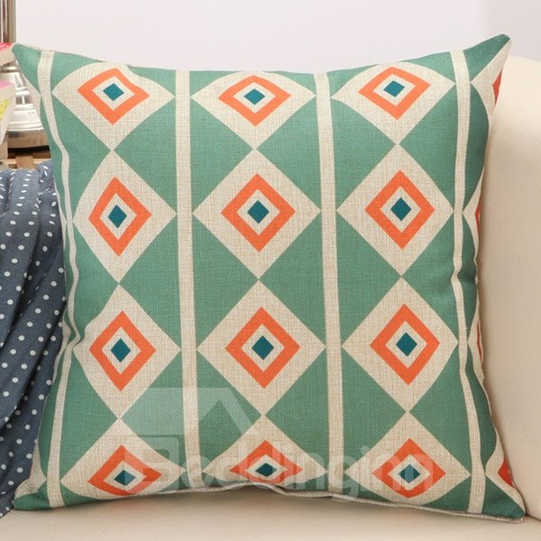 New Adorable Concise Rhombus Print Throw Pillow